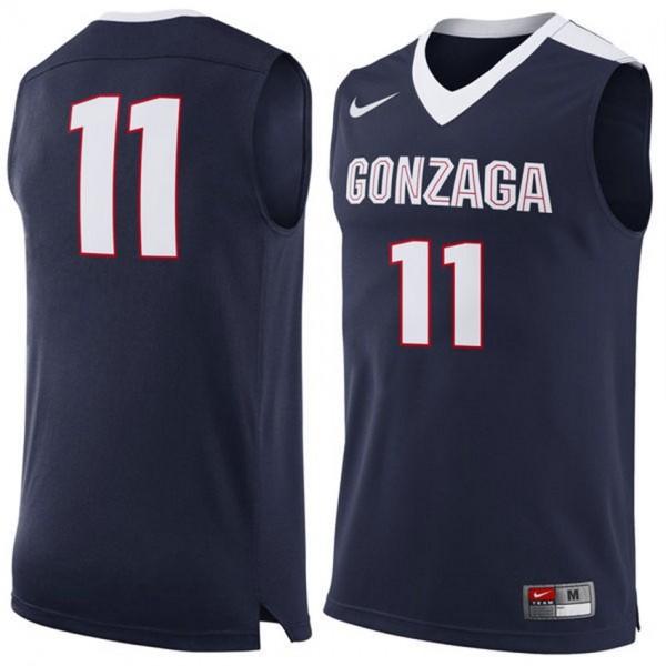 S-3XL Basketball Gonzaga Bulldogs #11 Men's Navy Premier Tank Top ...